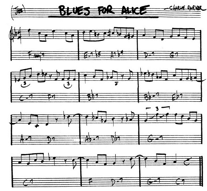 Blues For Alice Leadsheet